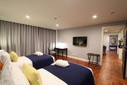 The second bedroom is in a twin bed configuration and also has its own private bathroom, closet and a large flat screen LCD television