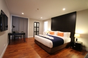 The master bedroom comes with it's own private bathroom as well as a large flat screen LCD Television