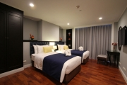 The second bedroom is outfitted with its own private bathroom and shower as well as a large flat screen LCD Television